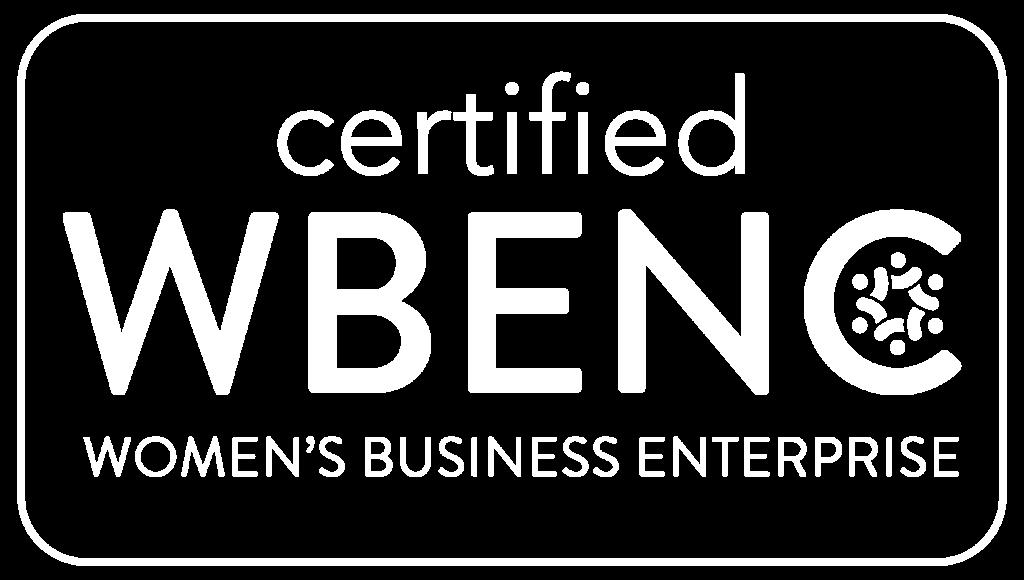 Certified WBENC logo - white